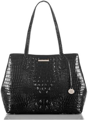 Brahmin Julian Croc Embossed Leather Tote