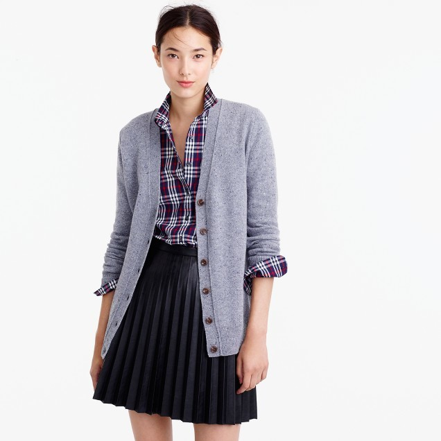 J.CrewClassic V-neck cardigan in Donegal wool