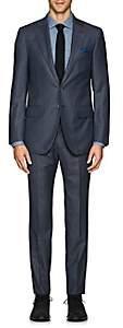 Isaia Men's Sanita Nailhead Wool Two-Button Suit - Blue