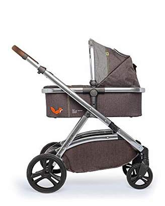 Cosatto Wow XL 3-in-1 Pram and Pushchair, Suitable from Birth - 25 kg, with Tandem Mode and Buggy Board- Mister Fox