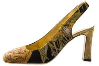 Dries Van Noten Square-Toe Slingback Pumps w/ Tags
