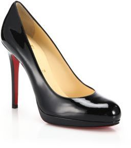 Christian Louboutin New Simple Patent Leather Pumps $795 thestylecure.com