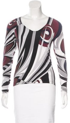 Emilio Pucci Printed Long Sleeve Top $70 thestylecure.com