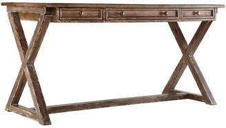 One Kings Lane Bennett Leather-Top Writing Desk - Brown