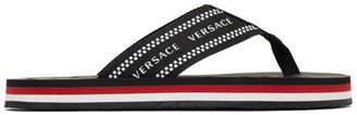 Versace Black Vintage Flip Flops