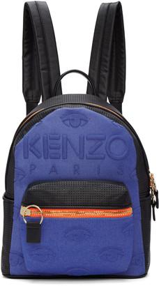 Kenzo Blue & Black Kombo Backpack $480 thestylecure.com