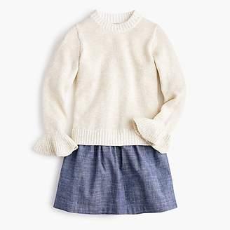 J.Crew Girls' sweater and chambray dress