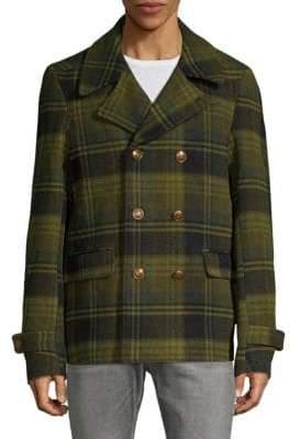 Scotch & Soda Plaid Double-Breasted Coat