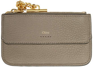 Chloé Grey Drew Card Holder