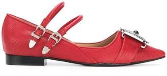 Toga Pulla embellished point-toe ballerina shoes