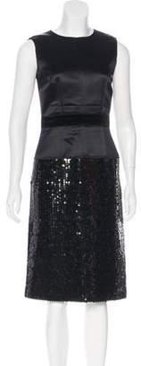Dolce & Gabbana Embellished Silk-Blend Dress