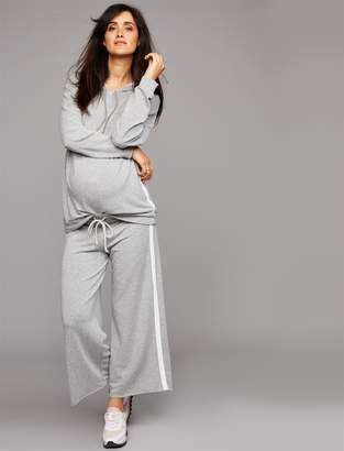 Pea Collection Velvet Under Belly Jogger Maternity Jogger Pant