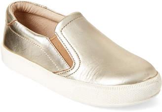 Old Soles Toddler/Kids Boys) Gold Dress Hoff Slip-On Sneakers