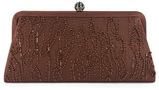 Farfalla Womens 90550 Clutch Brown