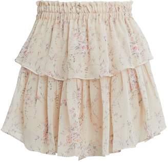 LoveShackFancy Tiered Mini Skirt