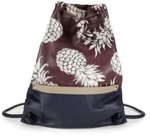Valentino Pineapple Print Drawstring Backpack