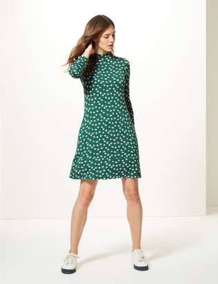 Marks and Spencer Floral Print Long Sleeve Swing Dress