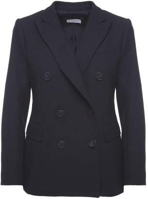 Alberto Biani Double-breasted Stretch Crepe-wool Blazer