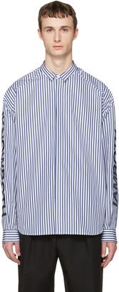 Juun.J Navy Stripes Shirt $510 thestylecure.com