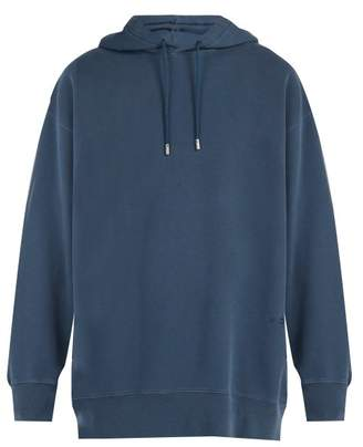 Acne Studios Fala Wash Cotton Hooded Sweatshirt - Mens - Blue