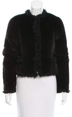 Zandra Rhodes Mink fringe-Trimmed Jacket