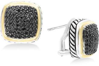 Effy Balissima by Diamond Two-Tone Stud Earrings (7/8 ct. t.w.) in Sterling Silver & 18k Gold