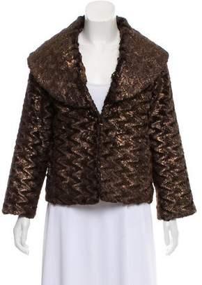 Alice + Olivia Metallic Faux Fur Coat w/ Tags