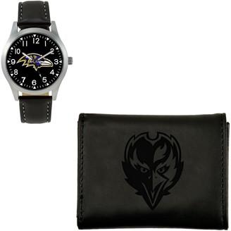 Nfl Sparo NFL Black Watch and Wallet Gift Set