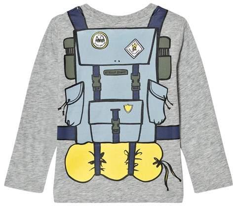 Stella McCartney Grey Backpack Barley Long Sleeve T-Shirt