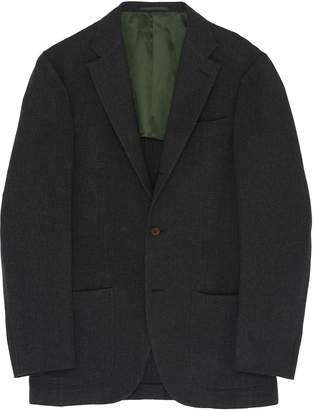 Ring Jacket 'New Balloon' check plaid wool hopsack blazer