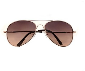 Pop Fashionwear Classic Aviator Color Lens Sunglasses Small Size Spring Hinge Temple 2480