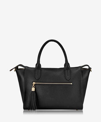 GiGi New York Grace Satchel Pebble Grain Leather