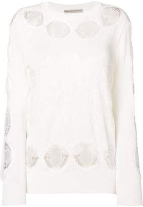 Ermanno Scervino cut out lace blouse