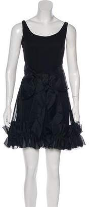 Marchesa Sleeveless Mini Dress