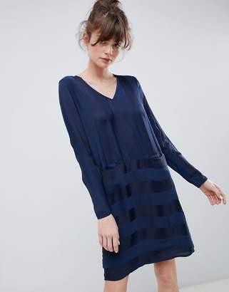 Ichi Stripe Shift Dress