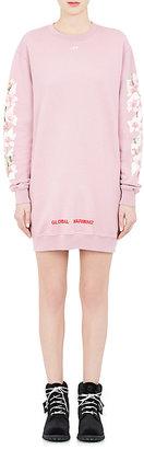 Off-White c/o Virgil Abloh Women's Cherry-Blossom Cotton Sweatshirt Dress $595 thestylecure.com