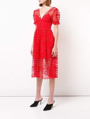 Self-Portrait lace tea dress