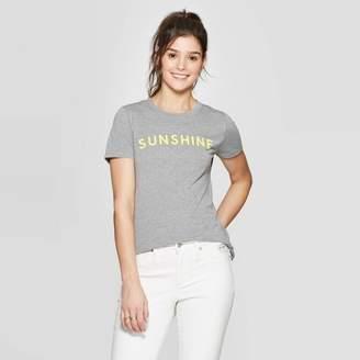 Modern Lux Women's Short Sleeve Sunshine Graphic T-Shirt - Modern Lux (Juniors') - Heather Gray