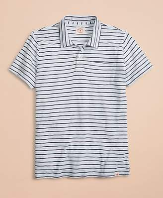 Brooks Brothers Striped Cotton Polo Shirt