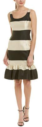 Carolina Herrera Silk-Blend Sheath Dress