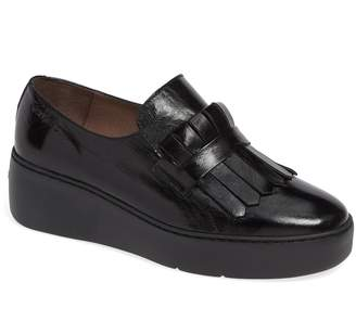 Wonders Kiltie Platform Loafer