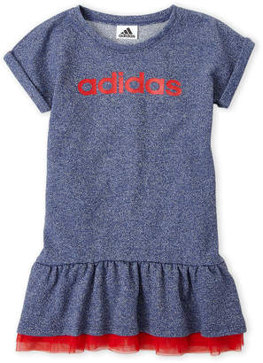 adidas Girls 4-6x) Indigo Logo Drop Waist Dress