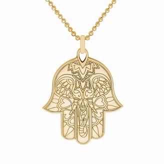 Cartergore Gold Hamsa Hand Pendant Necklace