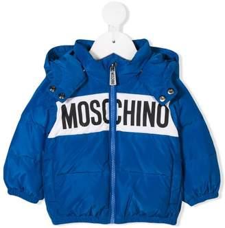 Moschino Kids logo padded jacket