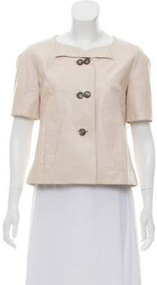 Chloé Short Sleeve Leather Jacket