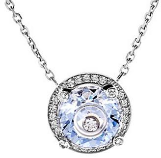 Chopard 18K Crystal Pendant Necklace