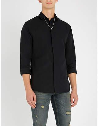 The Kooples Skull-pendant slim-fit cotton shirt