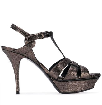 Saint Laurent platform glitter sandals