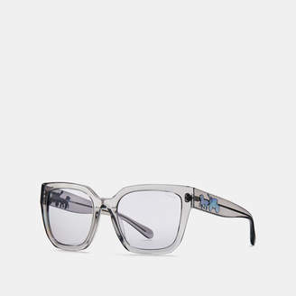 Coach Horse And Carriagre Hologram Square Sunglasses