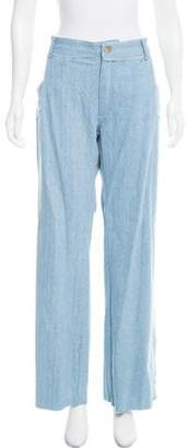 Baja East Wide-Leg High-Rise Jeans w/ Tags